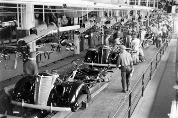 assembly line The assembly line is a manufacturing process that has become a key component of the industrial age on an assembly line, parts are added to a.